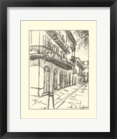 Framed B&W Sketches of Downtown I