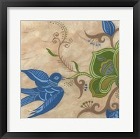 Framed Songbird Fresco I