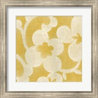 Framed Suzani Silhouette in Yellow I