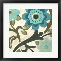 Peacock Blossoms II Framed Print