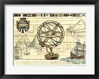 Framed Nautical Map I