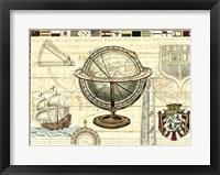 Framed Nautical Map II