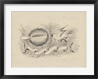 Framed Victorian Quill II
