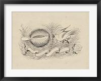Framed Victorian Quill II