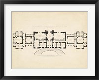 Framed Antique Building Plan III