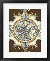Framed Ornamental Rosette I