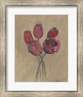 Framed Blooms & Stems I