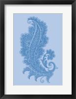 Framed Porcelain Blue Motif I