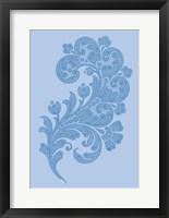 Framed Porcelain Blue Motif II