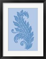 Framed Porcelain Blue Motif III