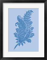 Framed Porcelain Blue Motif IV