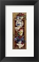 Framed Porcelain and Pansies