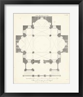 Framed Plan for a Chapel