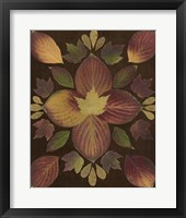 Framed Kaleidoscope Leaves V