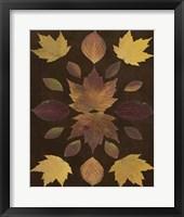 Framed Kaleidoscope Leaves VI
