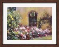 Framed Tuscan Lemons And Pink