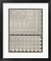 Framed Vintage Lace I