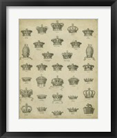 Framed Heraldic Crowns & Coronets V