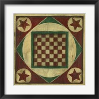 Framed Antique Checkers