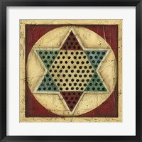 Framed Antique Chinese Checkers