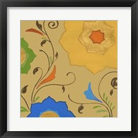 Moroccan Floral II Framed Print