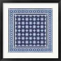 Framed Italian Mosaic in Blue II
