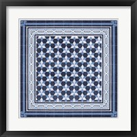 Framed Italian Mosaic in Blue III