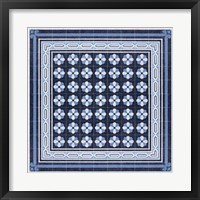 Framed Italian Mosaic in Blue IV
