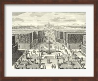 Framed Fountains of Versailles I