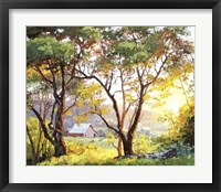 Framed Burnished Landscape