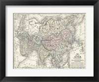 Framed Map of Asia
