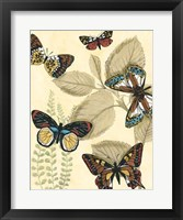 Framed Graphic Butterflies in Nature I