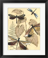 Graphic Dragonflies in Nature II Framed Print