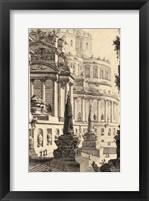 Framed Vintage Roman Ruins III
