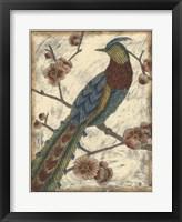 Framed Embroidered Pheasant I
