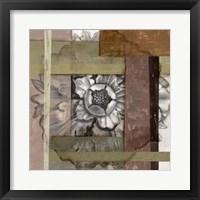 Framed Woven Rosette I