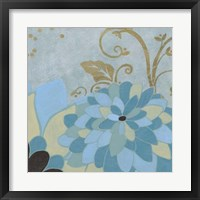 Gilded Azure I Framed Print