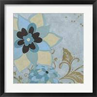 Gilded Azure II Framed Print