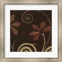 Framed Cardamon Floral I