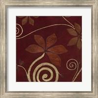 Framed Cardamon Floral IV