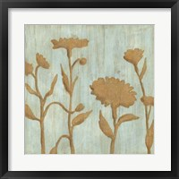 Framed Golden Wildflowers I