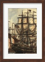 Framed Printed Majestic Ship I
