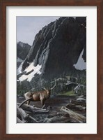 Framed Mountainside Elk I