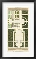 Framed Plan de la Villa Bolognetti