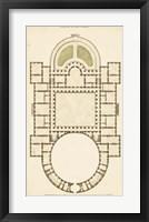 Framed Antique Garden Plan IV