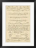 Framed Alphabet Sampler I