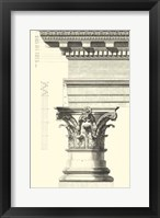 Framed B&W Column and Cornice I