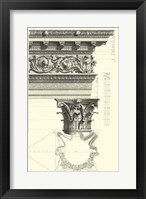 Framed B&W Column and Cornice II