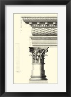 Framed B&W Column and Cornice III
