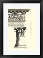 Framed B&W Column and Cornice IV